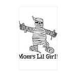 The Mummy's Girl Rectangle Sticker 10 pk)