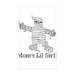 The Mummy's Girl Rectangle Sticker 10 pk)