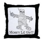 The Mummy's Girl Throw Pillow