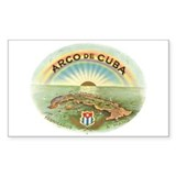 Arco de Cuba Cigar Rectangle Decal