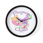 Pingnan China Map Wall Clock