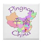 Pingnan China Map Tile Coaster