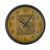 Celtic Letter S Large Wall Clock