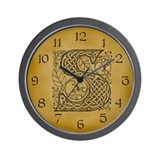 Celtic Letter S Wall Clock