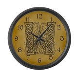 Celtic Letter W Large Wall Clock
