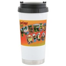 Puerto Rico Greetings Ceramic Travel Mug