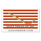 First Navy Jack Rectangle Decal
