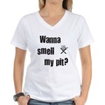 BBQ - Wanna Smell My Pit? Women's V-Neck T-Shirt