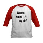 BBQ - Wanna Smell My Pit? Kids Baseball Jersey