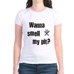 BBQ - Wanna Smell My Pit? Jr. Ringer T-Shirt