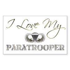Love My Paratrooper Rectangle Decal