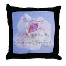 """Delight Yourself In The Lord"" Scripture Pillow"