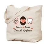 Peace Love Dental Hygiene Tote Bag