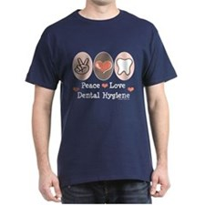 Peace Love Dental Hygiene T-Shirt
