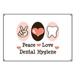 Peace Love Dental Hygiene Banner