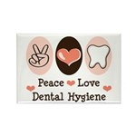Peace Love Dental Hygiene Rectangle Magnet (10 pac