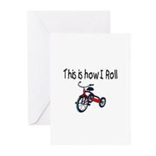 This Is How I Roll (Tricycle) Greeting Cards (Pk o