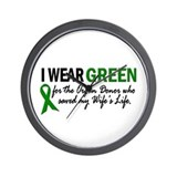 I Wear Green 2 (Wife's Life) Wall Clock