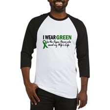 I Wear Green 2 (Wife's Life) Baseball Jersey