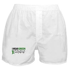 I Wear Green 2 (Wife's Life) Boxer Shorts