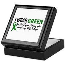 I Wear Green 2 (Wife's Life) Keepsake Box