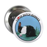 "Love Dutch Rabbit 2.25"" Button"