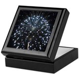 Blue Fireworks Keepsake Box
