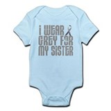 I Wear Grey For My Sister 16 Infant Bodysuit
