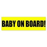 Baby on Board Bumper Bumper Stickers
