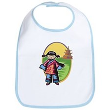 Chinese Girl Bib