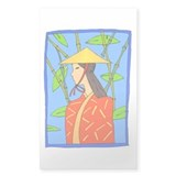 Bamboo/Girl Rectangle Decal