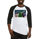 Xmas Magic & Choc Lab Baseball Jersey