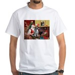 Santa/Keeshond White T-Shirt