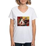 Santa's Ital Greyhound Women's V-Neck T-Shirt