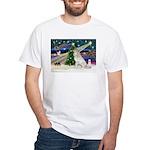 XmasMagic/Gr Pyrenees White T-Shirt