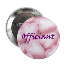 Officiant Candy Hearts Button
