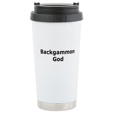 Backgammon God Ceramic Travel Mug