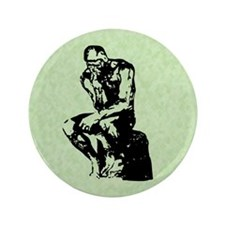 "Rodin The Thinker 3.5"" Button"
