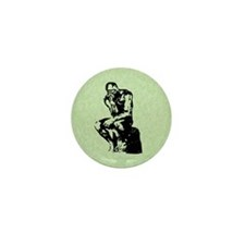 Rodin The Thinker Mini Button (10 pack)