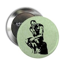 "Rodin The Thinker 2.25"" Button (10 pack)"
