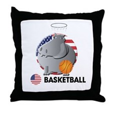 basket ball Throw Pillow