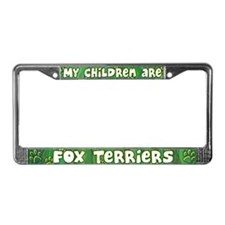 My Children Fox Terrier License Plate Frame