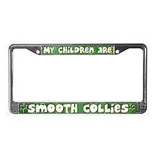 My Children Smooth Collie License Plate Frame