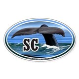 SC South Carolina Whale Tail decal Oval Decal
