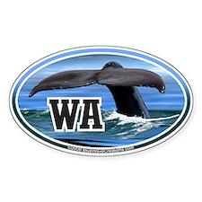 WA Washington State Whale Tail oval decal sticker
