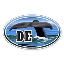 DE Delaware Whale Tail Fluke Decal Oval Decal