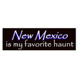 New Mexico Haunt Bumper Sticker - Blue