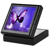 Purple Butterfly Keepsake Box