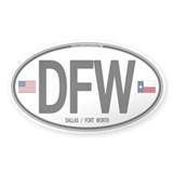 Texas Euro Oval - Dallas/Ft W Oval Sticker (50 pk)