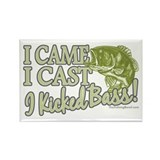 Came, Cast, Kicked Bass Rectangle Magnet